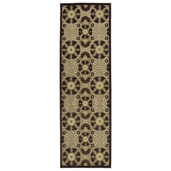Indoor/Outdoor Luka Brown Medallions Rug
