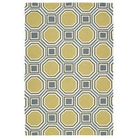 Indoor/Outdoor Handmade Getaway Gold Rug - 8' x 10'