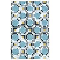 Indoor/Outdoor Handmade Getaway Blue Rug - 8' x 10'