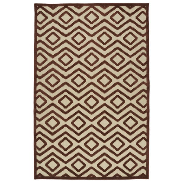 Indoor/Outdoor Luka Terracotta Diamond Rug - 8'8 x 12'