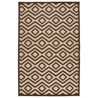 Indoor/Outdoor Luka Terracotta Diamond Rug (8'8 x 12'0)