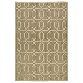 "Indoor/Outdoor Luka Khaki Geo Rug (8'8 x 12'0) - 8'8"" x 12'"
