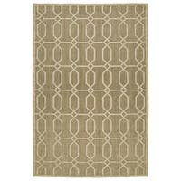 "Indoor/Outdoor Luka Khaki Geo Rug - 8'8"" x 12'"