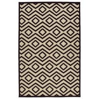 Indoor/Outdoor Luka Brown Diamond Rug - 7'10 x 10'8