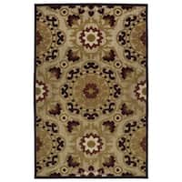 Indoor/Outdoor Luka Brown Suzani Rug (7'10 x 10'8)