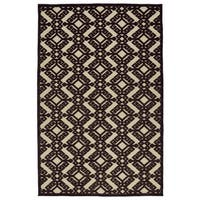 Indoor/Outdoor Luka Brown Nomad Rug - 3'10 x 5'8
