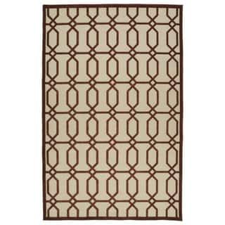 Indoor/Outdoor Luka Terracotta Geo Rug (8'8 x 12'0)|https://ak1.ostkcdn.com/images/products/10106301/P17246695.jpg?impolicy=medium