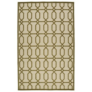 Indoor/Outdoor Luka Olive Geo Rug (5'0 x 7'6)