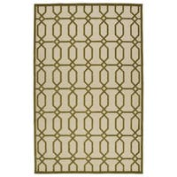 "Indoor/Outdoor Luka Olive Geo Rug - 8'8"" x 12'"