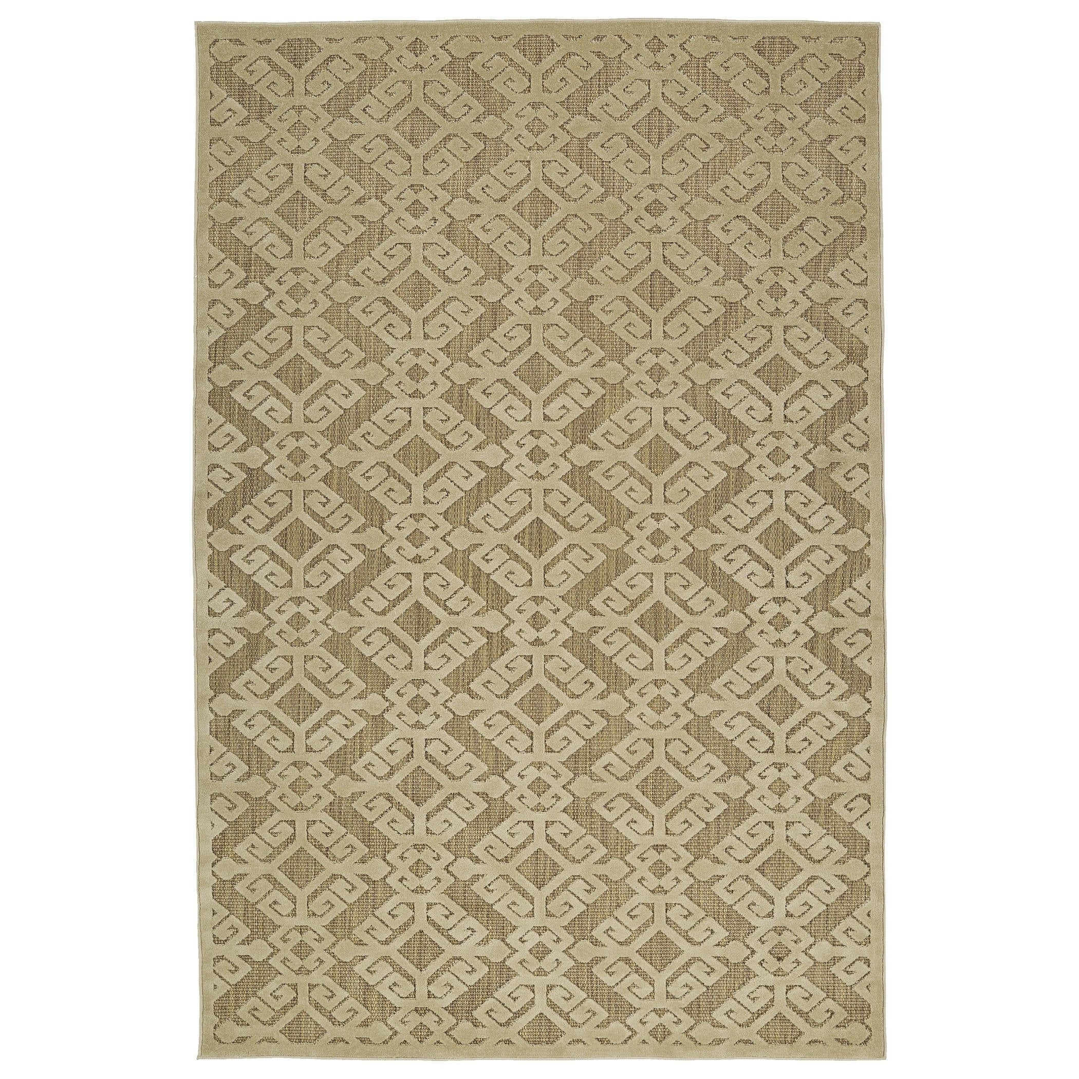 Bombay Home Indoor/Outdoor Luka Khaki (Green) Nomad Rug (...