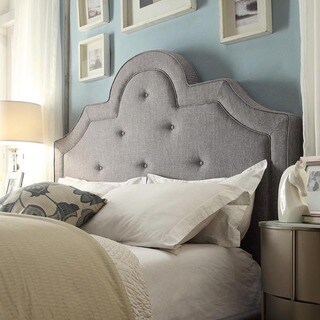 INSPIRE Q Harper Tufted High-arching Linen Upholstered Full-size Headboard