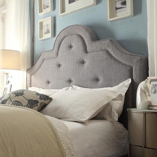 Harper Tufted High-arching Linen Upholstered Full-size Headboard by iNSPIRE Q Bold