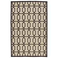 "Indoor/Outdoor Luka Brown Geo Rug - 7'10"" x 10'9"""