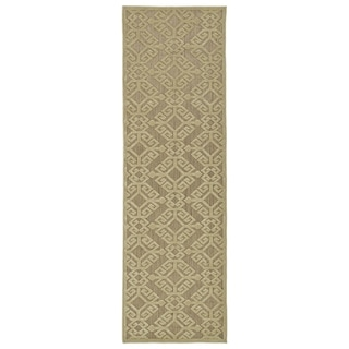 Indoor/Outdoor Luka Khaki Nomad Rug (2'6 x 7'10)