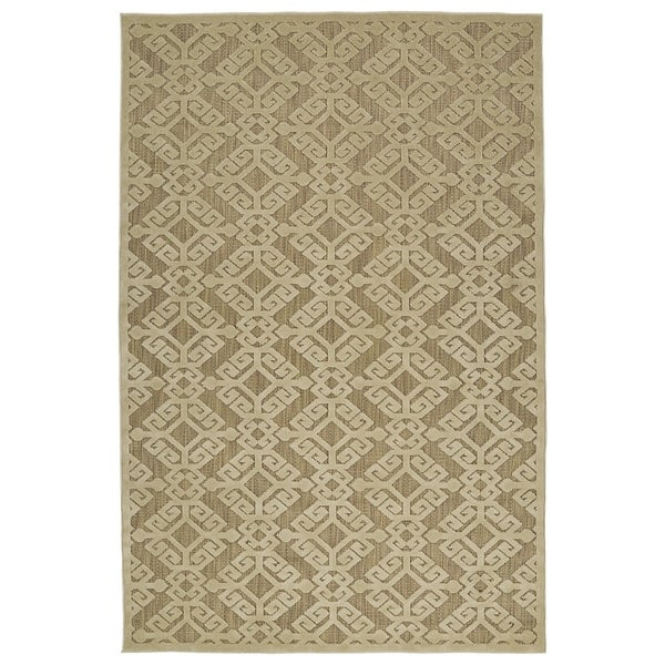 Indoor/Outdoor Luka Khaki Nomad Rug - 7'10 x 10'8