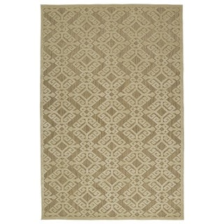 Indoor/Outdoor Luka Khaki Nomad Rug (7'10 x 10'8)