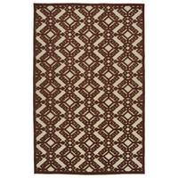 Indoor/Outdoor Luka Terracotta Nomad Rug - 7'10 x 10'8