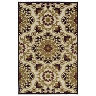 Indoor/Outdoor Luka Khaki Suzani Rug (8'8 x 12'0)