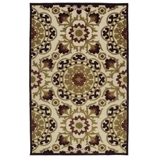 Indoor/Outdoor Luka Khaki Suzani Rug (7'10 x 10'8)