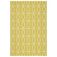 Indoor/Outdoor Handmade Getaway Gold Links Rug - 8' x 10'