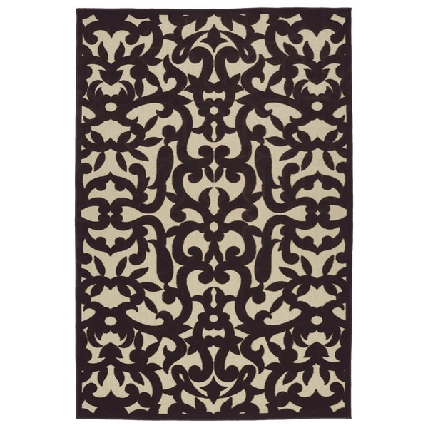 "Indoor/Outdoor Luka Brown Vine Rug - 8'8"" x 12'"