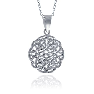 Mondevio Sterling Silver Celtic Round Necklace