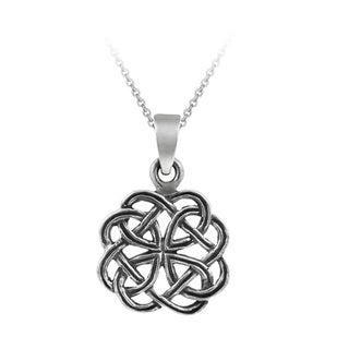 Mondevio Sterling Silver Celtic Oxidized Necklace