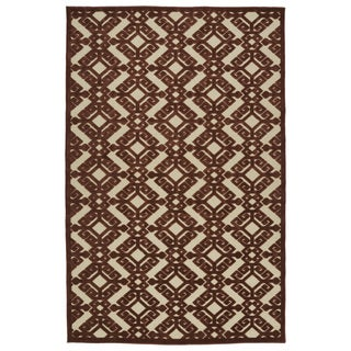 Indoor/Outdoor Luka Terracotta Nomad Rug (8'8 x 12'0)