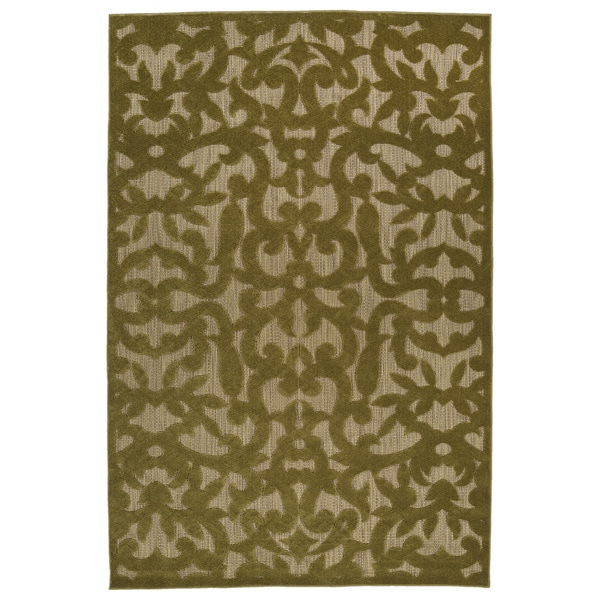 Indoor/Outdoor Luka Olive Vine Rug - 7'10 x 10'8