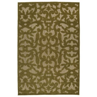 Indoor/Outdoor Luka Olive Vine Rug (5'0 x 7'6)