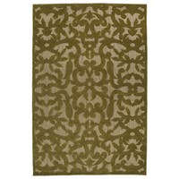 Indoor/Outdoor Luka Olive Vine Rug - 3'10 x 5'8