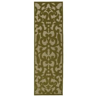 Indoor/Outdoor Luka Olive Vine Rug (2'6 x 7'10)