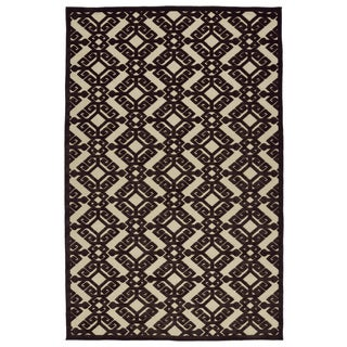 Indoor/Outdoor Luka Brown Nomad Rug (5'0 x 7'6)