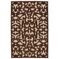 Indoor/Outdoor Luka Terracotta Vine Rug (7'10 x 10'8)