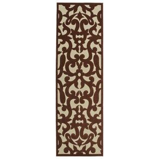 Indoor/Outdoor Luka Terracotta Vine Rug (2'6 x 7'10)