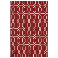Indoor/Outdoor Handmade Getaway Red Links Rug - 2' x 3'