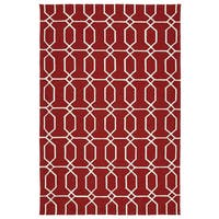 Indoor/Outdoor Handmade Getaway Red Links Rug - 9' x 12'