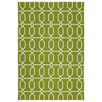 Indoor/Outdoor Handmade Getaway Apple Green Links Rug - 9' x 12'
