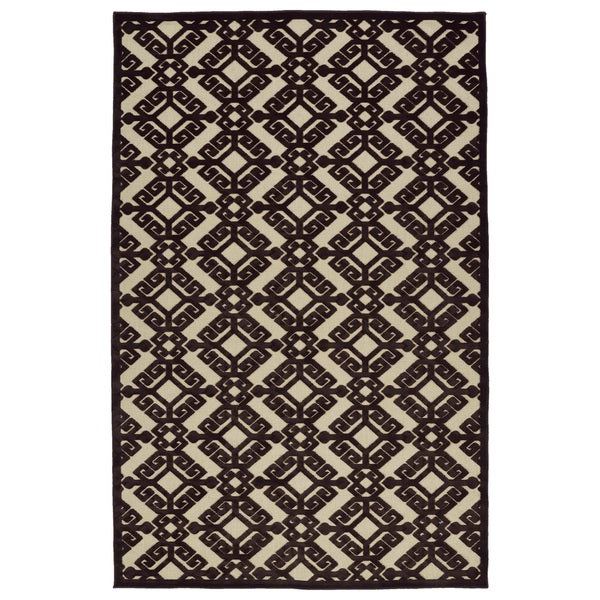 Indoor/Outdoor Luka Brown Nomad Rug - 7'10 x 10'8