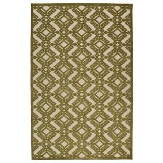 Indoor/Outdoor Luka Olive Nomad Rug (5'0 x 7'6)