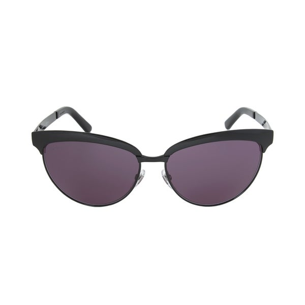 a73f30f1b Shop Gucci Women's 4249/S 0006BN Shiny Black Grey Metal Cat Eye ...