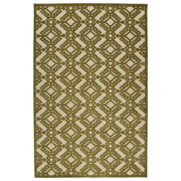 "Indoor/Outdoor Luka Olive Nomad Rug - 8'8"" x 12'"