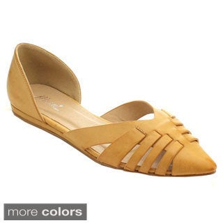 Miim Cast-01 Women's Pointed Toe D'orsay Flats