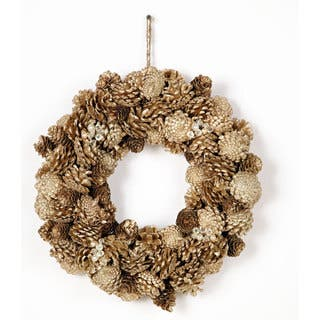 15 Inch Pine Cone on a wire base Jewel Glitter Wreath, Packed 1 Each|https://ak1.ostkcdn.com/images/products/10106610/P17246942.jpg?impolicy=medium