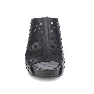 Refresh ELVA-07 Women's Slip On Platform Wedge Mule Sandals (Runs 2 Sizes Smaller)