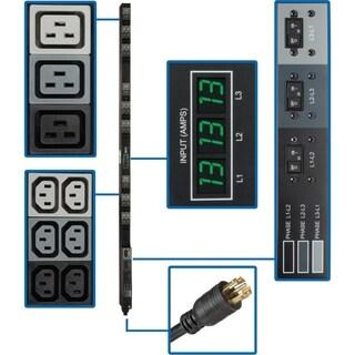 Tripp Lite PDU 3-Phase Metered 208V 8.6kW L21-30P 36 C13; 9 C19 0URM
