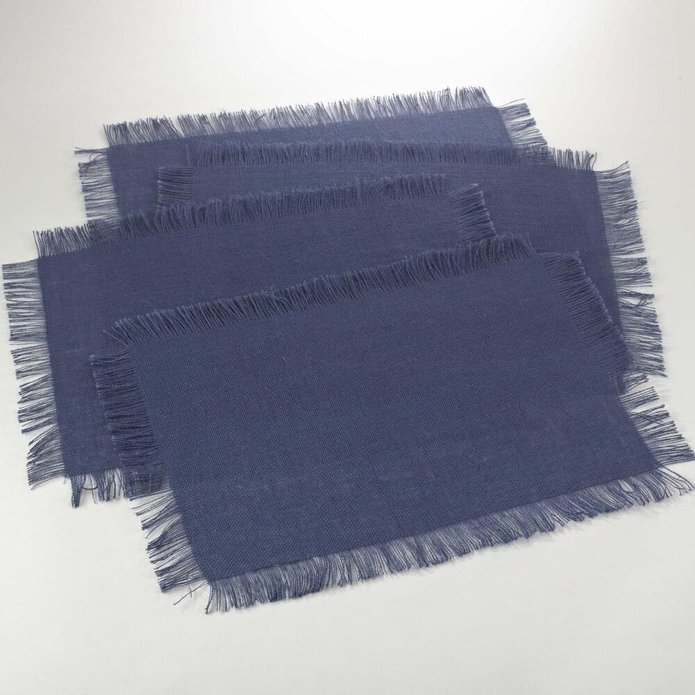 Shop Fringed Jute Design Placemat (set of 4) - Overstock - 10108099