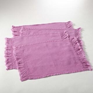 Ruffled Design Linen Blend Placemat (Set of 4)