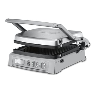 Cuisinart GR-150 Griddler Deluxe, Brushed Stainless (Refurbished)