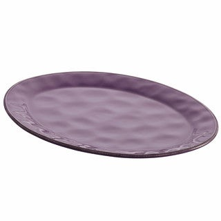 Rachael Ray Cucina Dinnerware 10-Inch x 14-Inch Stoneware Oval Platter, Lavender Purple
